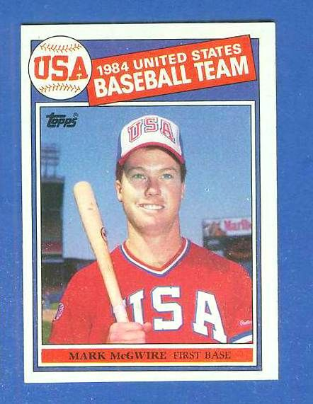 1985 1985 Topps 401 Mark Mcgwire Rookie Usa Olympic Team Baseball