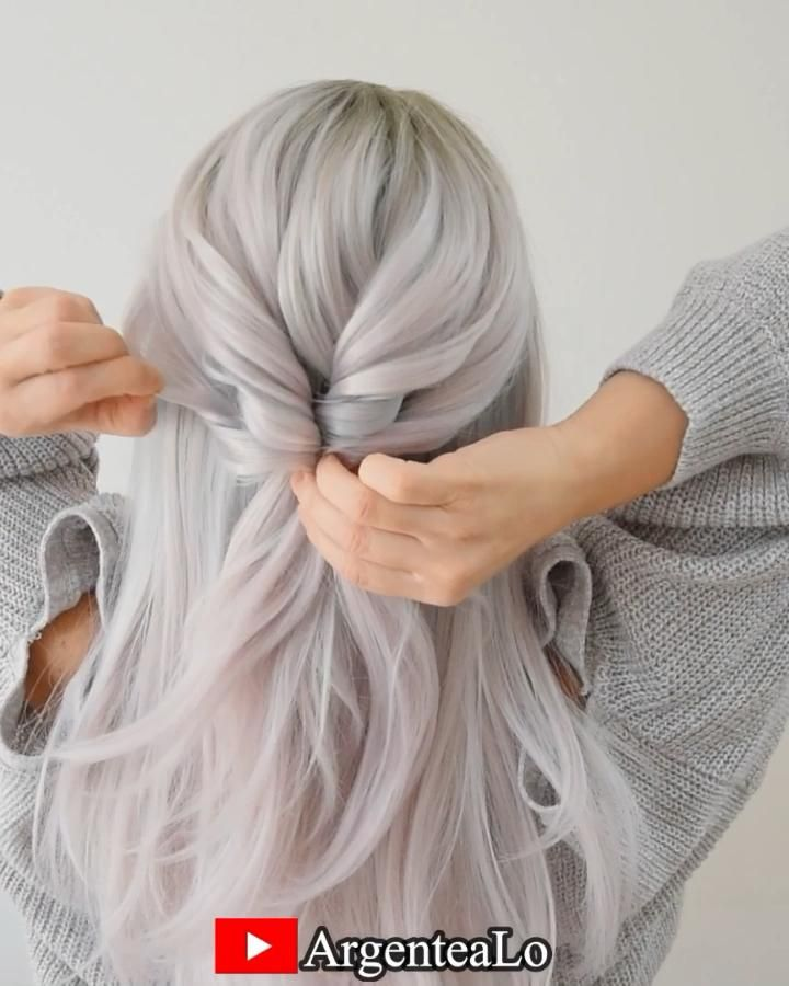 Super Easy Knots Hairstyle 🤍