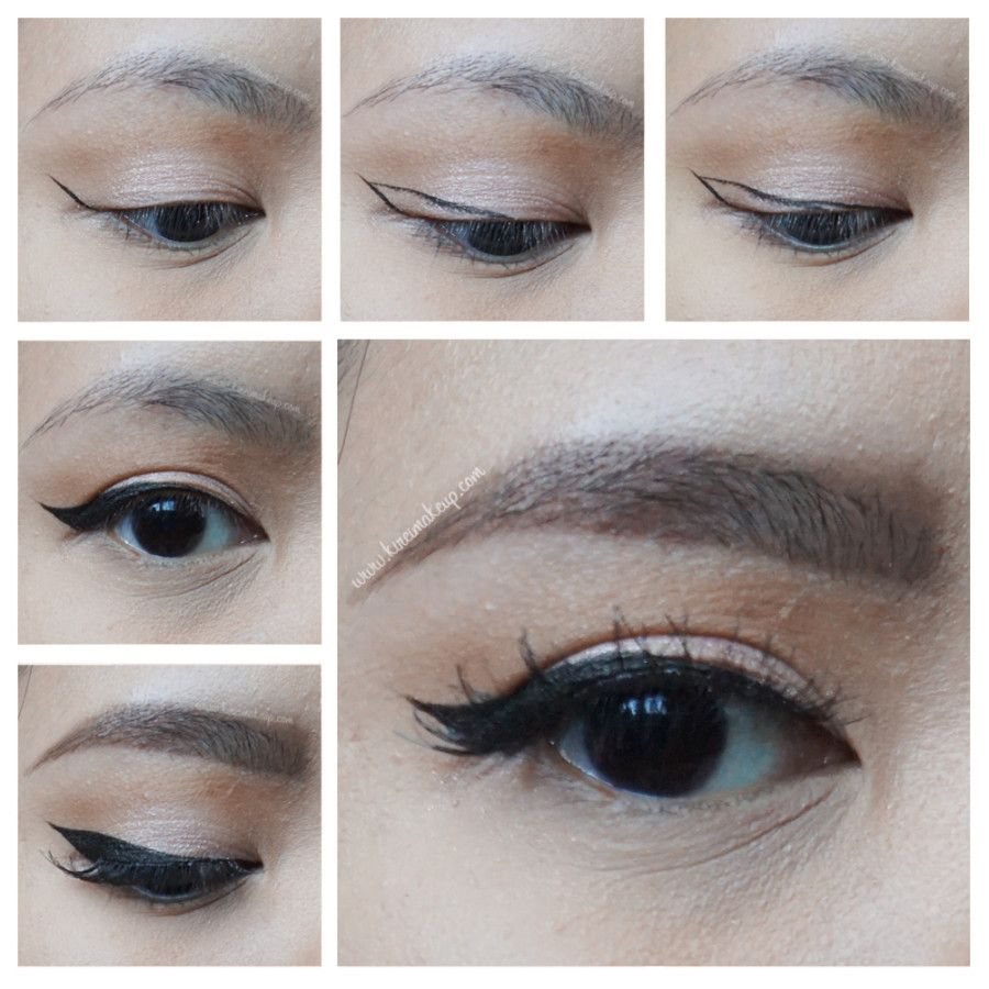 Winged Eyeliner Tutorial for asian eyes, using Kat Von D