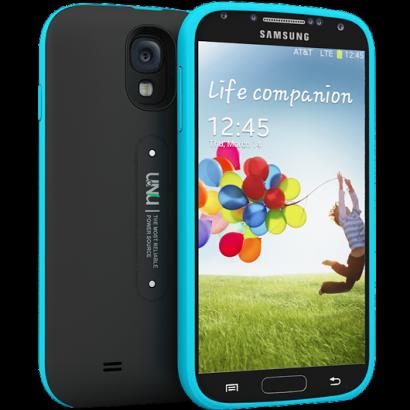 Matte Black/Blue Aero Wireless Battery Case