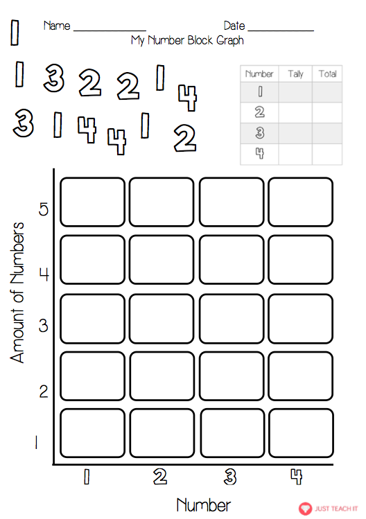 a set of 2 simple worksheets to introduce children to data