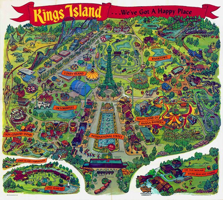 Kings Island 1975 Map - Opened in 1972 by Taft Broadcasting after a on new york city new jersey map, wild river country map, apostle islands map, carowinds map, north island naval base map, islands of adventure map, canada's wonderland map, kiddieland map, paramount park map, disney's blizzard beach map, coney island fun map, westbury new york map, beach waterpark map, six flags map, cincinnati map, cedar point map, oaks amusement park map, michigan adventure map, long island satellite map, disneyland map,