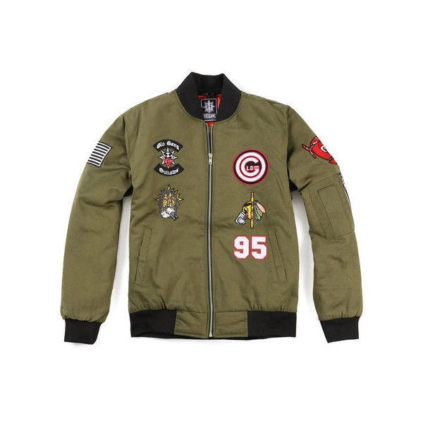 Cappin Bomber Jacket ( Chief Keef - Glo Gang ) ($200) ❤ liked on Polyvore featuring outerwear and jackets