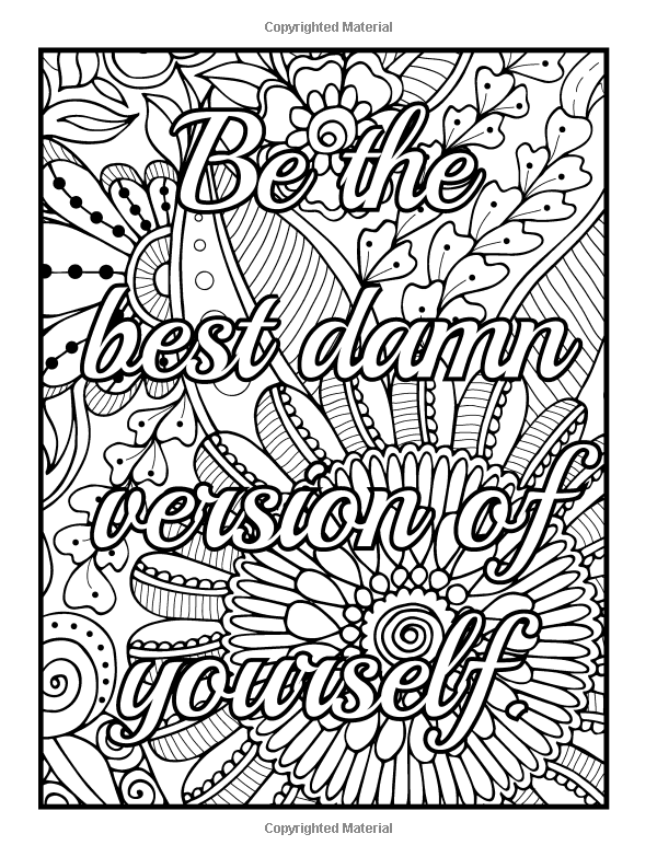 grown up coloring pages inspirational | Amazon.com: Be F*cking Awesome and Color: An Adult ...
