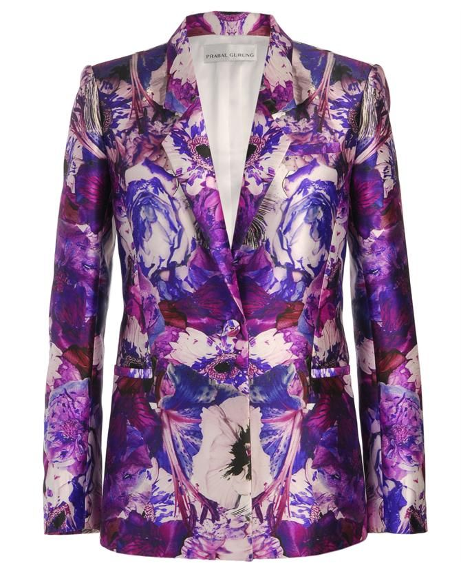 Exclusive: Printed wool-silk blazer by PRABAL GURUNG at Browns Fashion for £2,355.00£940.00