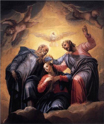 Verones. Coronacion de la virgen. Sacristía de San Sebastiano. 1555