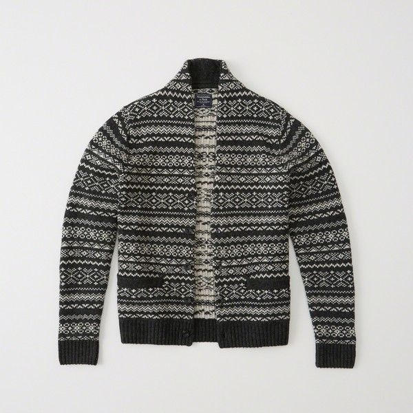 Abercrombie & Fitch Patterned Shawl Cardigan ($84) ❤ liked on ...