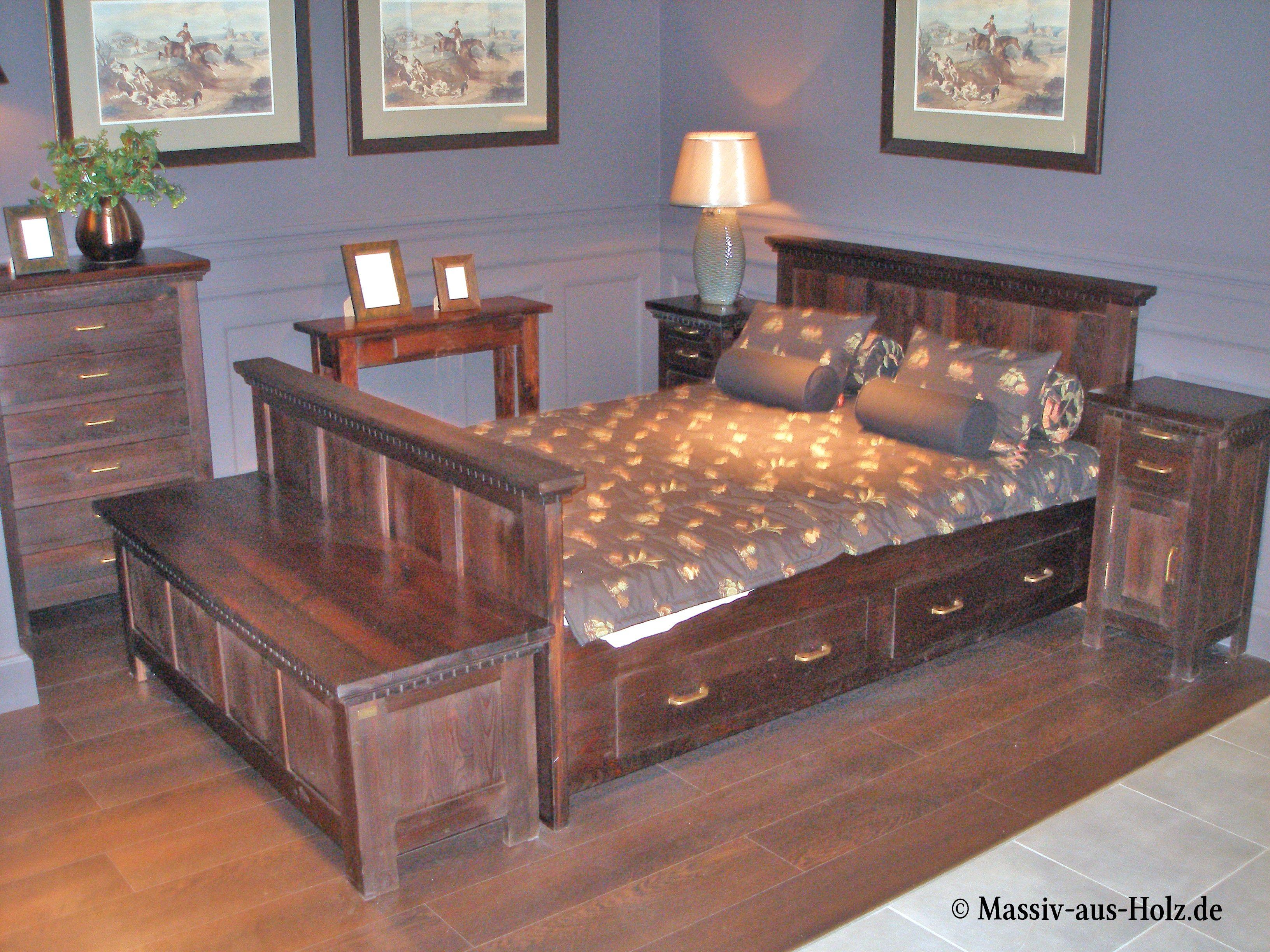 Möbel in Kolonial-Farbe www.massiv-aus-holz.de #Kolonial ...