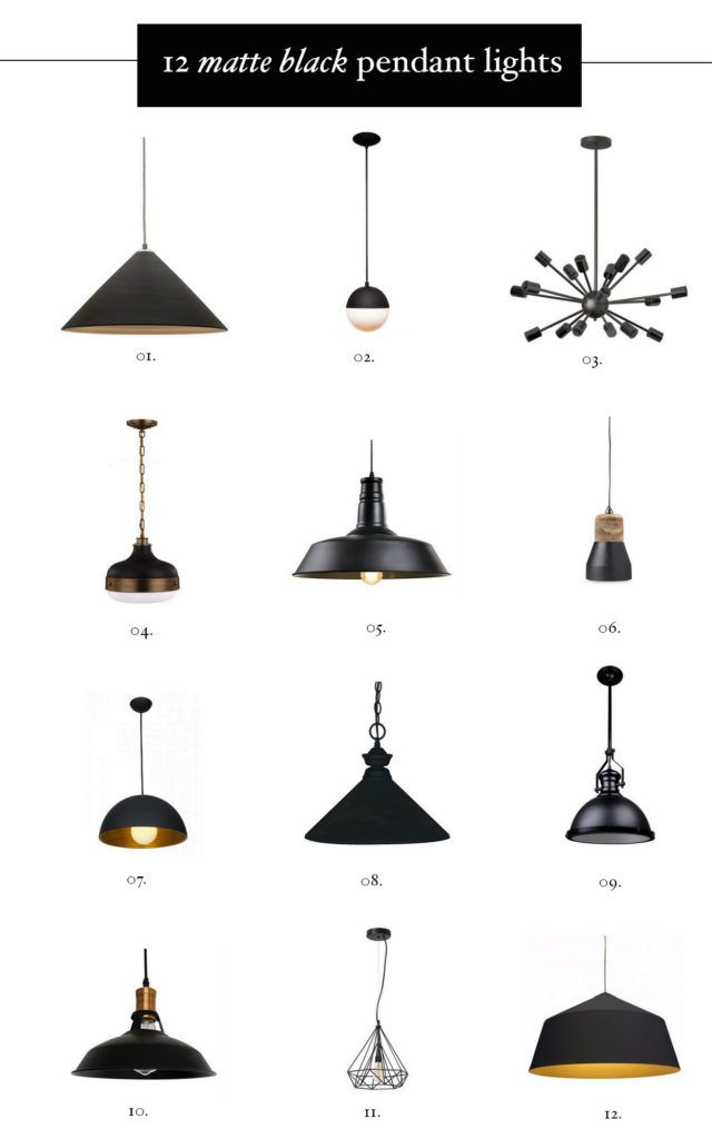 Cool Hunting Matte Black Hardware Kitchen Pendant Lighting