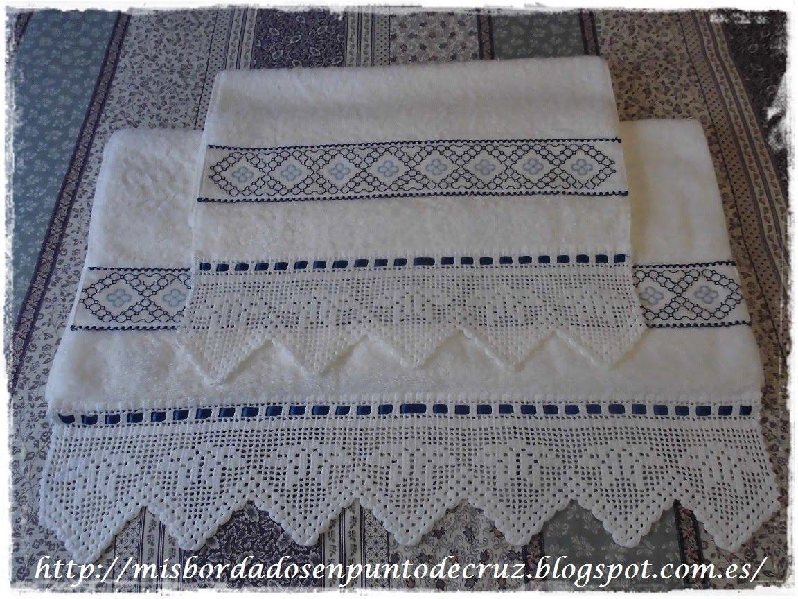Mis bordados en punto de cruz toallas bordadas toallas pinterest toallas bordadas - Cenefas punto de cruz para toallas de bano ...