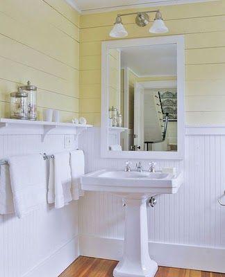 Beadboard Love Beadboard Bathroom Yellow Bathrooms Small