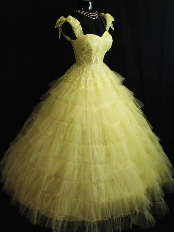 vintage yellow dress - My &quot-style&quot- - Pinterest - Vintage Yellow ...
