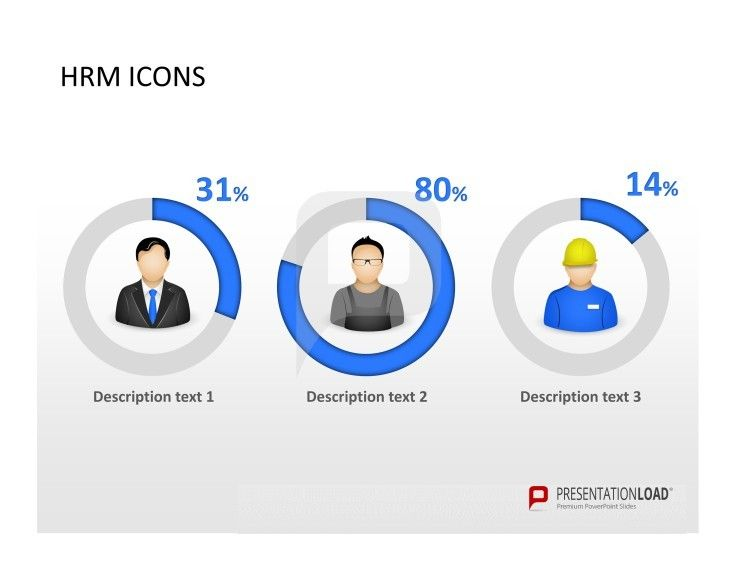 human resource management powerpoint template icons for