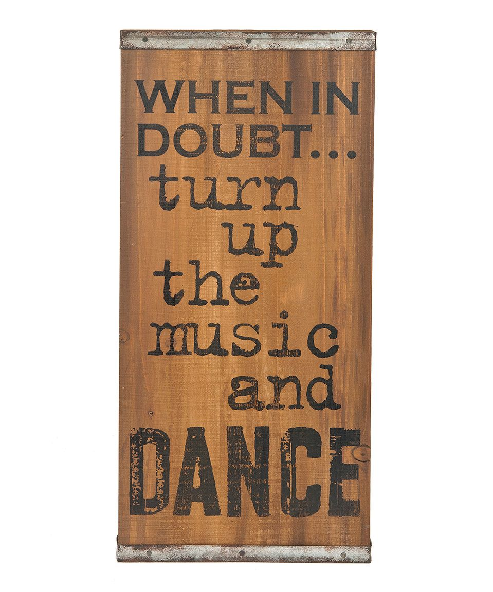 Love this uturn up the music and danceu wooden wall sign by ganz on