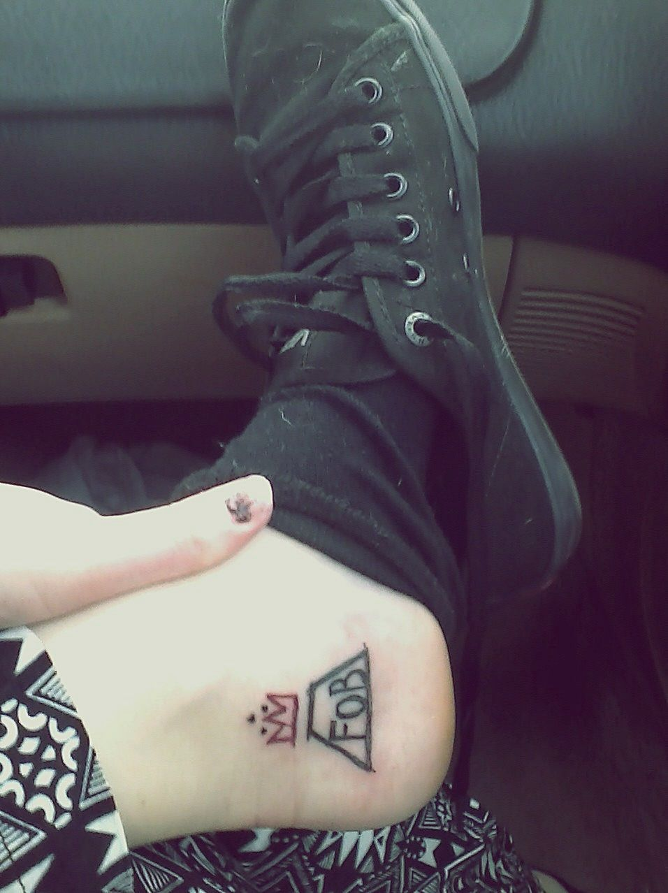 quotmy new fall out boy tattoo im usually not one for band