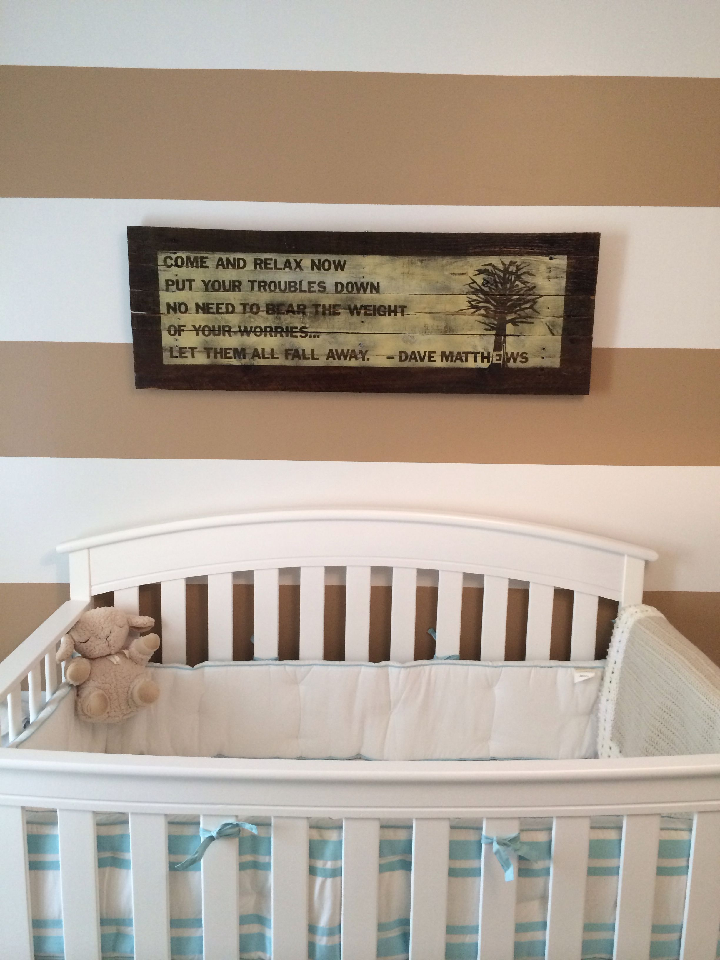 Dave Matthews lyrics in nursery
