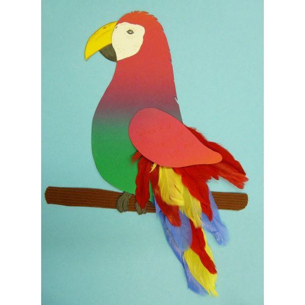 papagei basteln kinder pinterest papageien basteln. Black Bedroom Furniture Sets. Home Design Ideas
