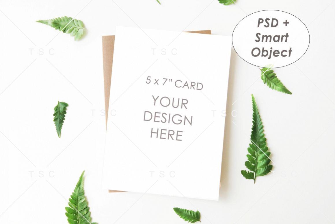 5 X 7 Card Mockup Invitation Card Save The Date Card 242094 Mockups Design Bundles Save The Date Cards Business Card Mock Up Mockup Design