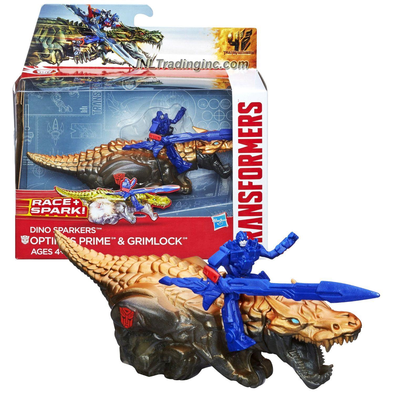 "OPTIMUS PRIME /& GRIMLOCK Transformers Age of Extinction Sparkers 7/"" Figure 2014"