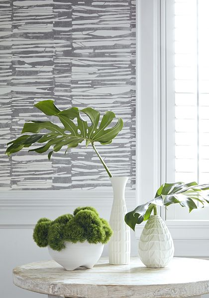Thibaut Wallpaper Ischia in Light Grey (T10119) from the
