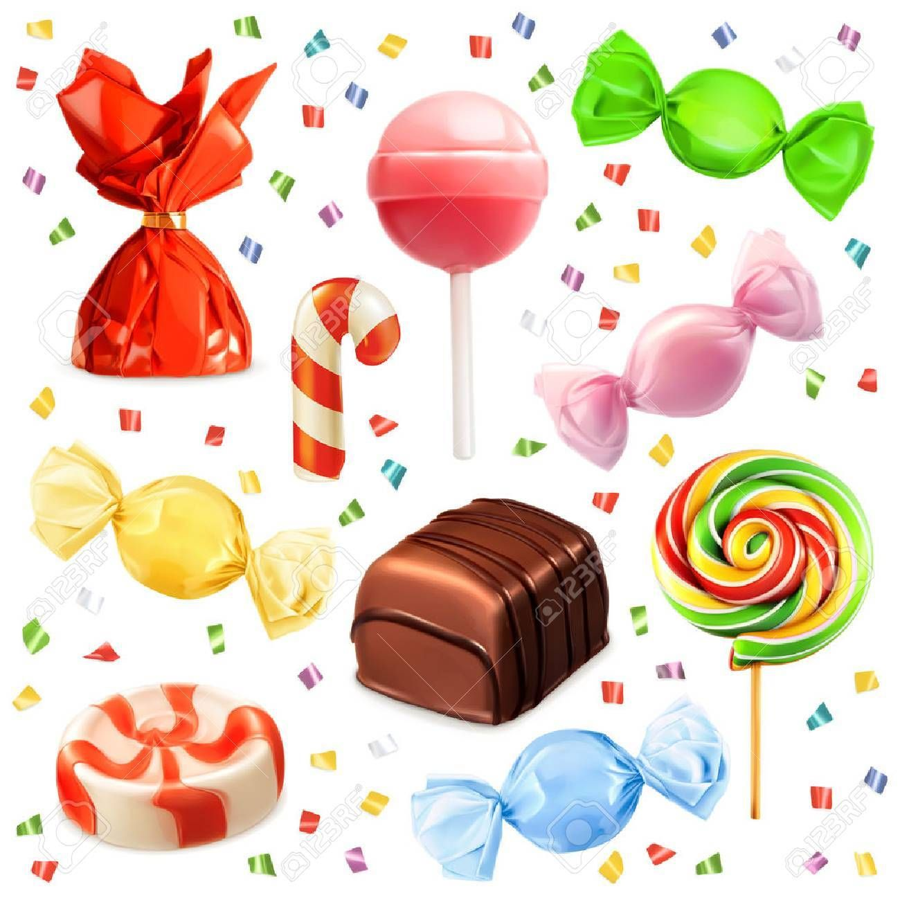 Candy set, vector icons ,