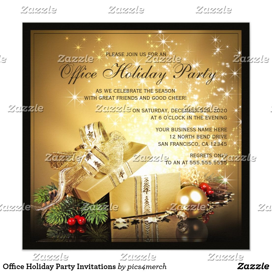 Office Holiday Party Invitations | Pinterest | Party invitation ...