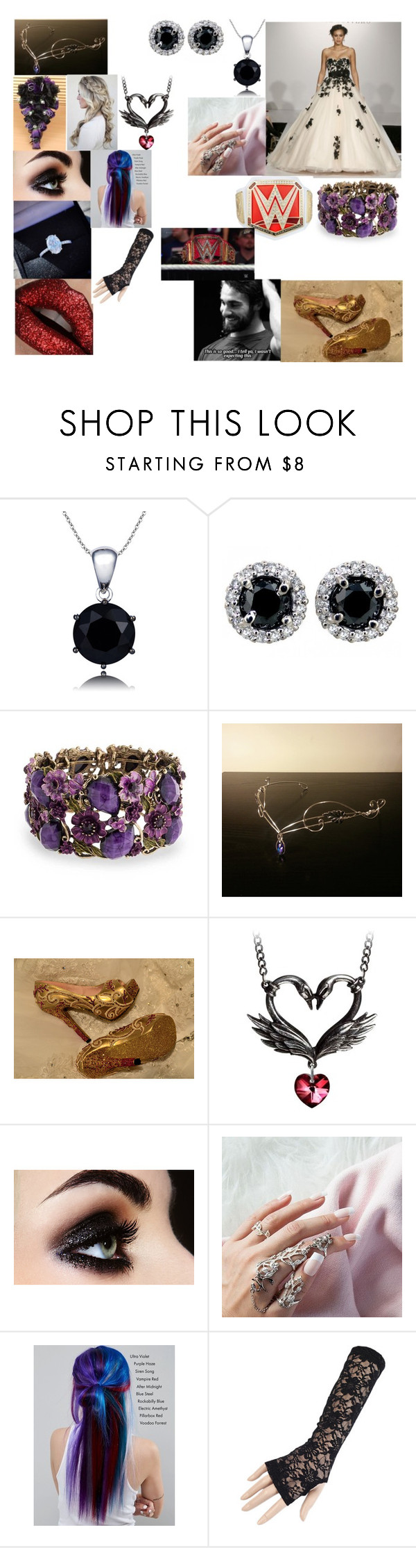 """""""prp"""" by ashley-purdys-girl-forever ❤ liked on Polyvore featuring Bling Jewelry, Black Swan, Manic Panic NYC and WWE"""