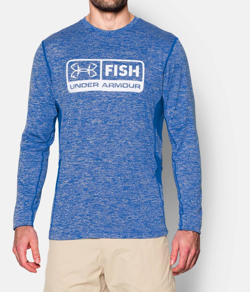 Men s ua fish hunter long sleeve t shirt armours and fish for Under armor fishing shirt