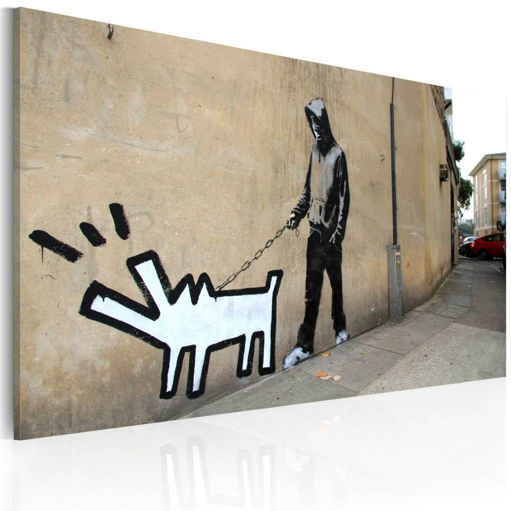 EUpMB Impression sur Toile Murale Tableau Art Peinture Image Motif Moderne D/écoration Graffiti Art Abstrait par Keith Haring Peace Love Street Art He 40x120cm sans Cadre L499