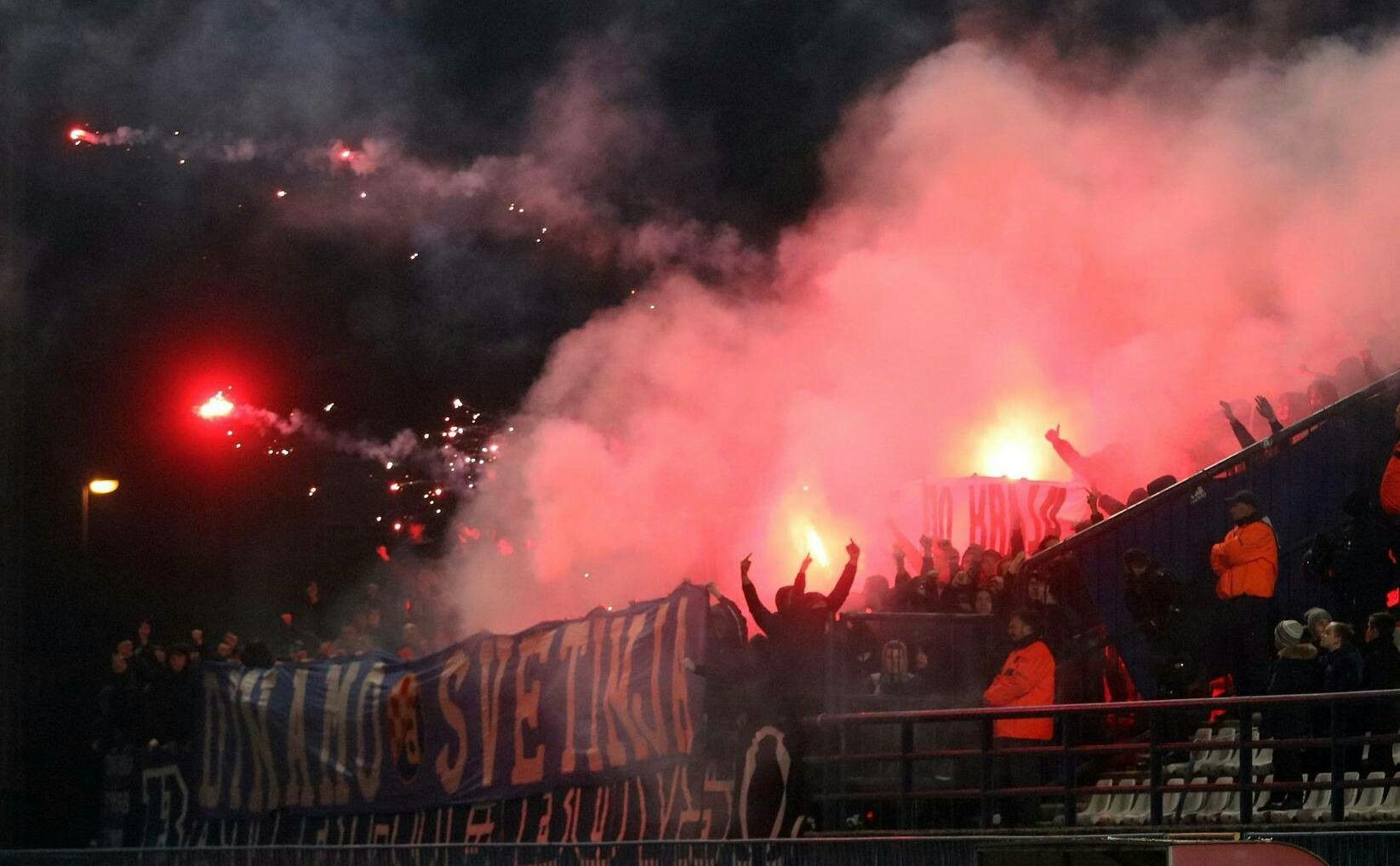Bad Blue Boys Dinamo Zagreb Away At Slaven Belupo Zagreb Gnk Dinamo Zagreb Croatia