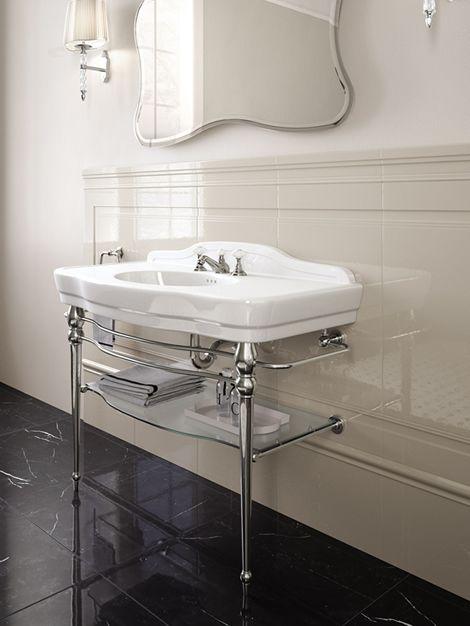 Melody Console avec plan et vasque en céramique, structure ...