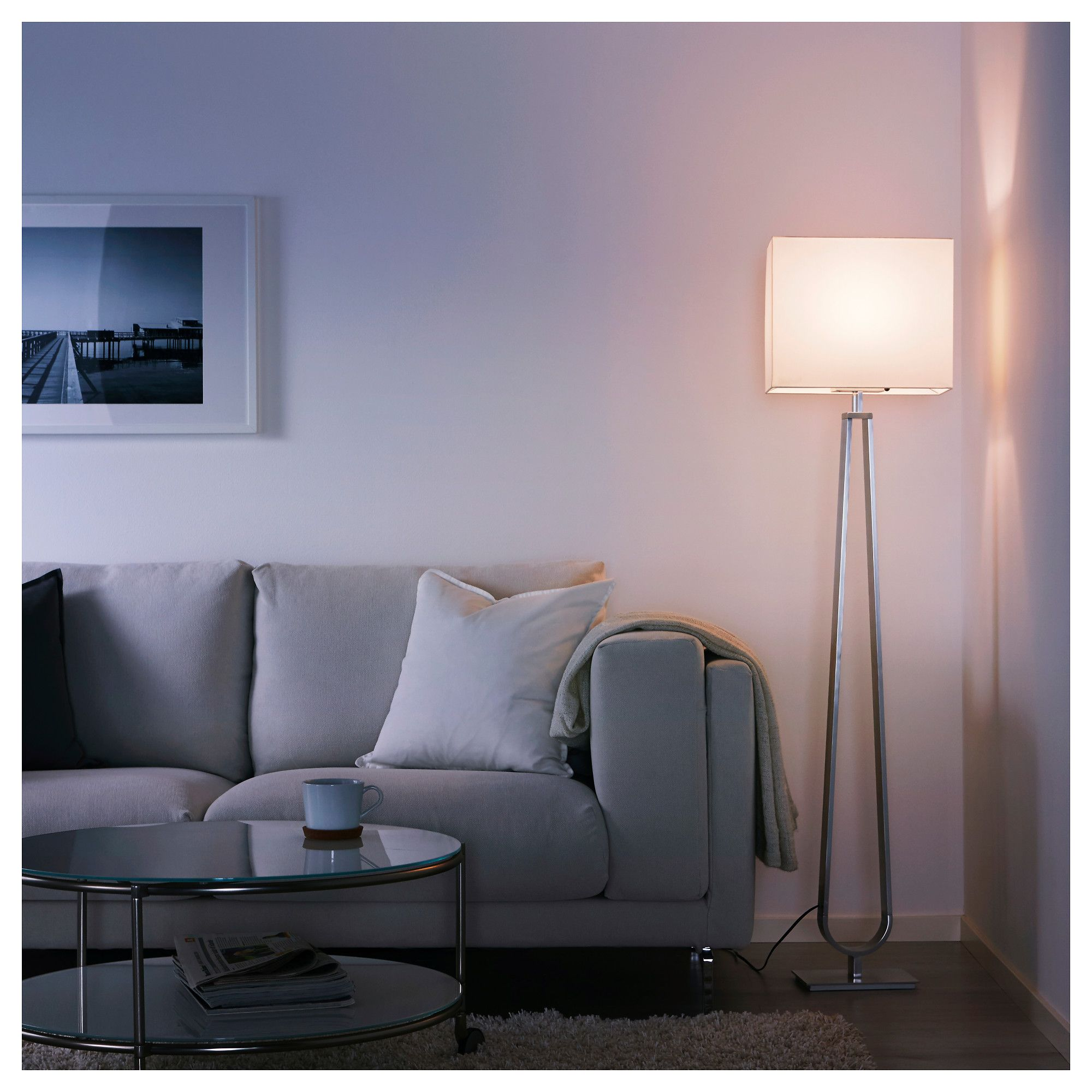KLABB Floor lamp off white | Reading lamp floor, Floor