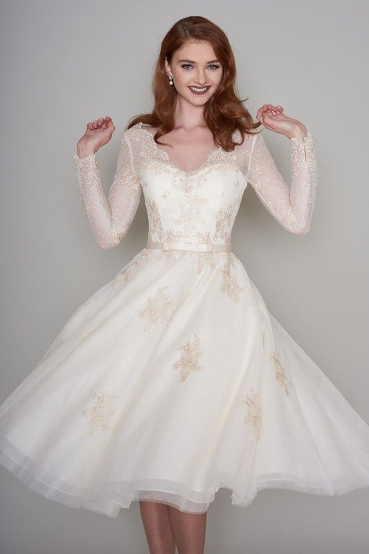 56 Prettiest Short Wedding Dresses Collections Long Sleeve