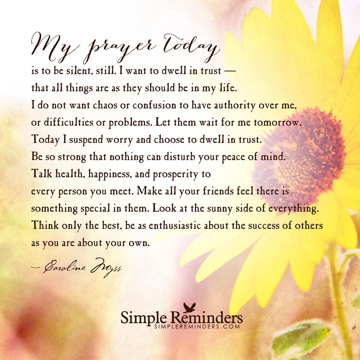Todays Prayer Quotes My Prayer Today Is To Be Silent My Prayer Today Is To Be Silent