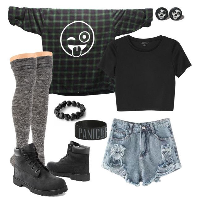 """Warped For Life"" by hensley-savannah on Polyvore featuring Sock It To Me, Murati, Timberland, Monki, women's clothing, women's fashion, women, female, woman and misses"