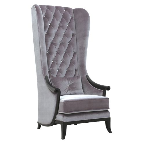Charming Very Velvet Blofeld Platinum Porters Chair   Contemporary   Chairs   The  French Bedroom Company
