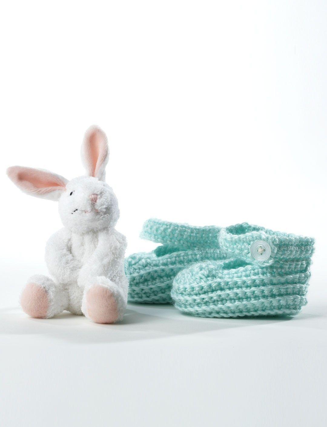 Crochet Booties in Bernat Softee Baby Solids | Crochet Patterns ...