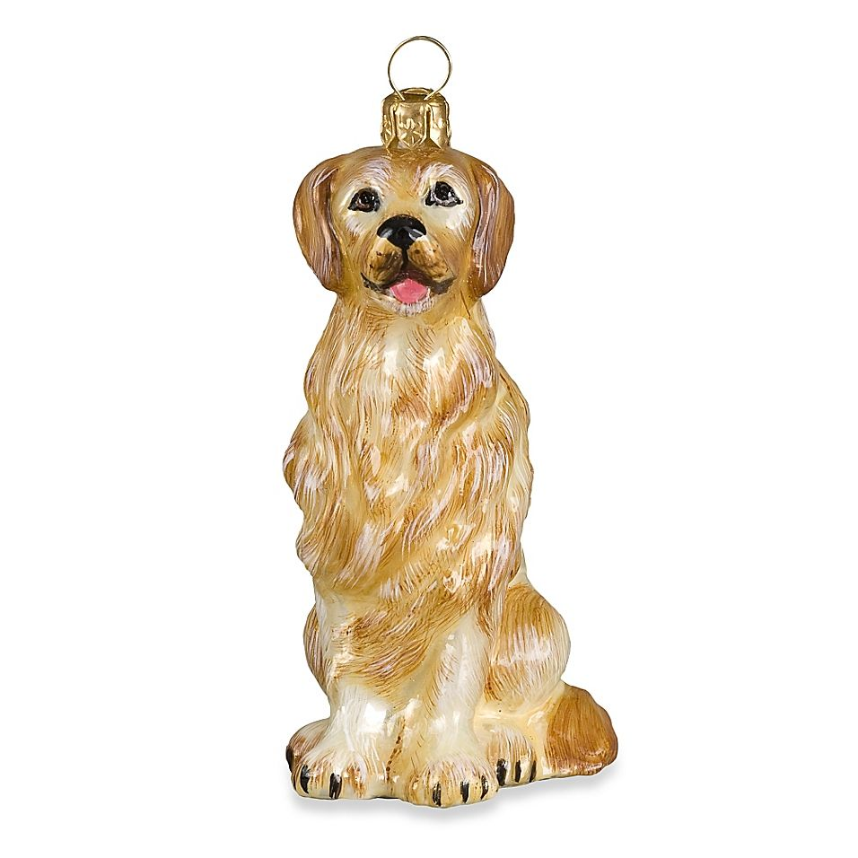Joy To The World Collectibles Pet Set Golden Retriever Christmas