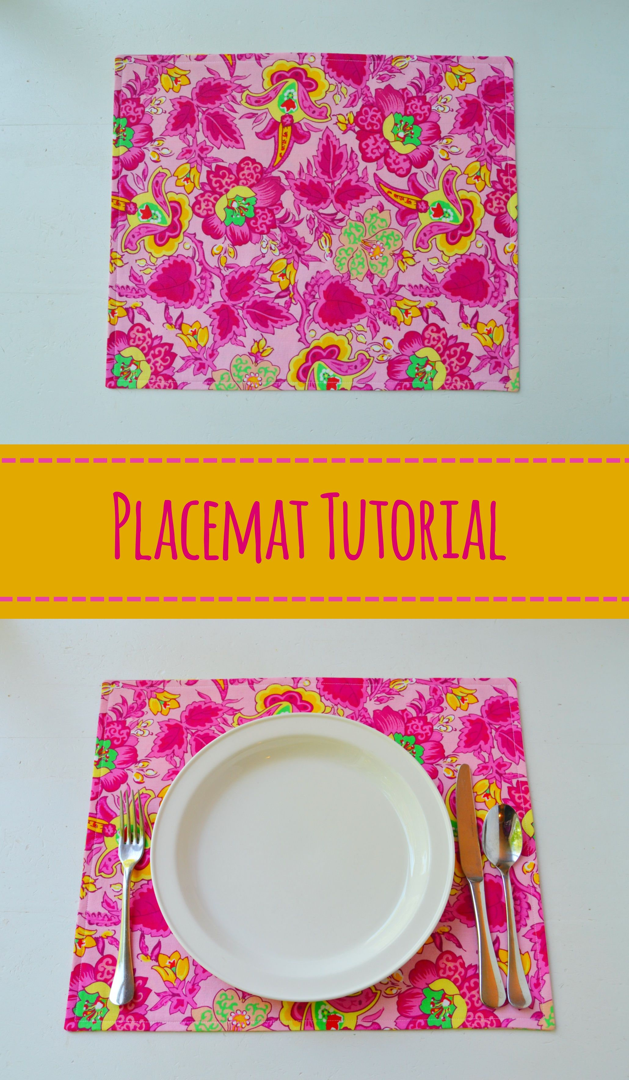 Placemats Are A Super Fun Way To Dress Up Your Table For A Special Meal Or Even Just To Add Some Nice C Sewing Basics Diy Placemats Fabric Easy Sewing Projects