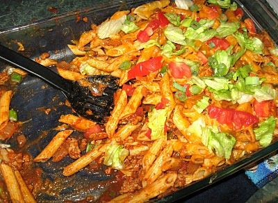Debbi Does Dinner... Healthy & Low Calorie: Taco Pasta