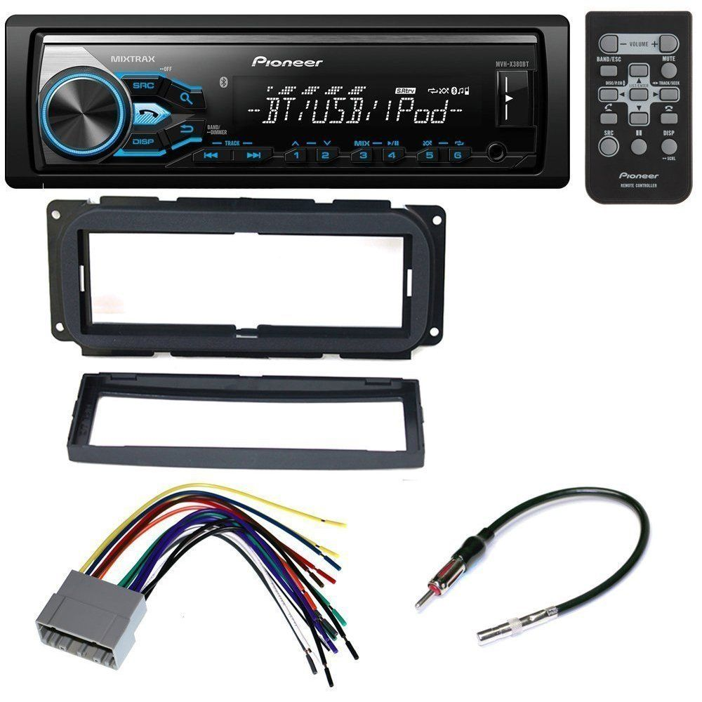 Car Radio Stereo Cd Player Dash Install Mounting Kit Harness Toyota Single Din Mount With Wiring Antenna For Chrysler Dodge Jeep