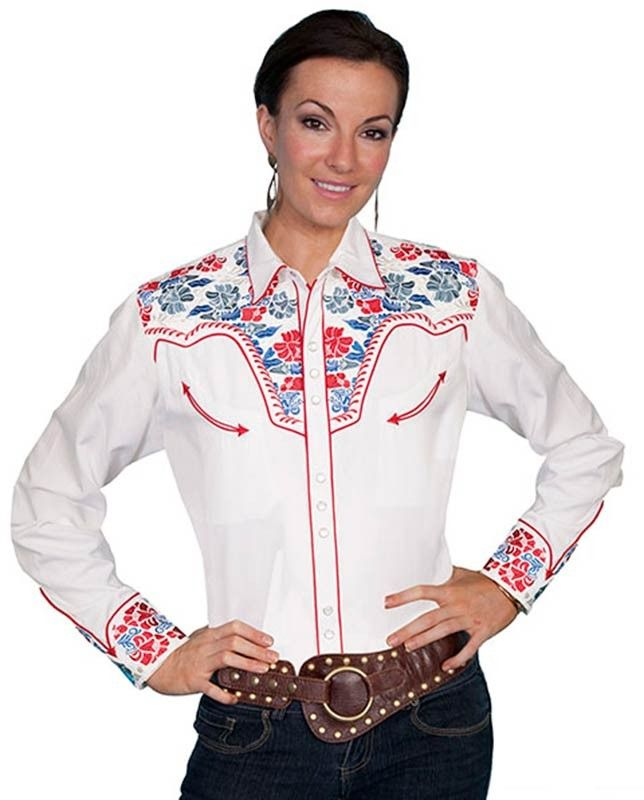 Vintage Rose : Women's Embroidered Cowgirl Shirt | Free Shippin' on Western  Shirts. I