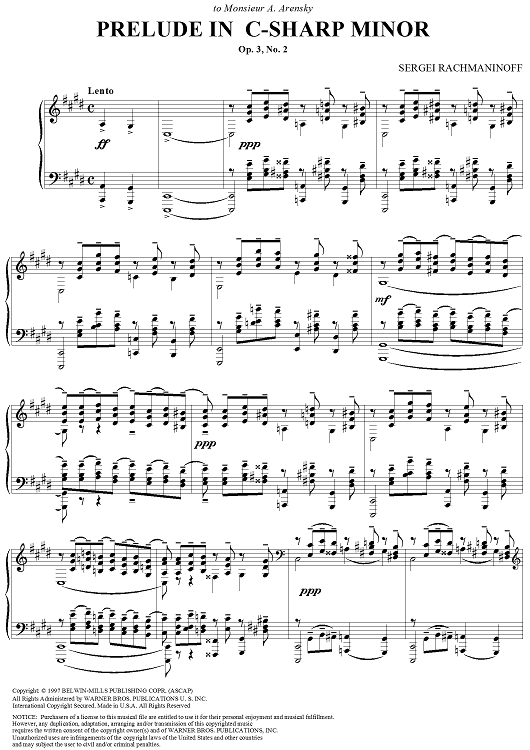 A Dream Is A Wish Your Heart Makes Flute Sheet Music Sergey Rakhmaninov Prelude In C Sharp Minor From Cinq Morceaux De Fantaisie Sheet Music Printable Sheet Music Sheet Music Digital Sheet Music