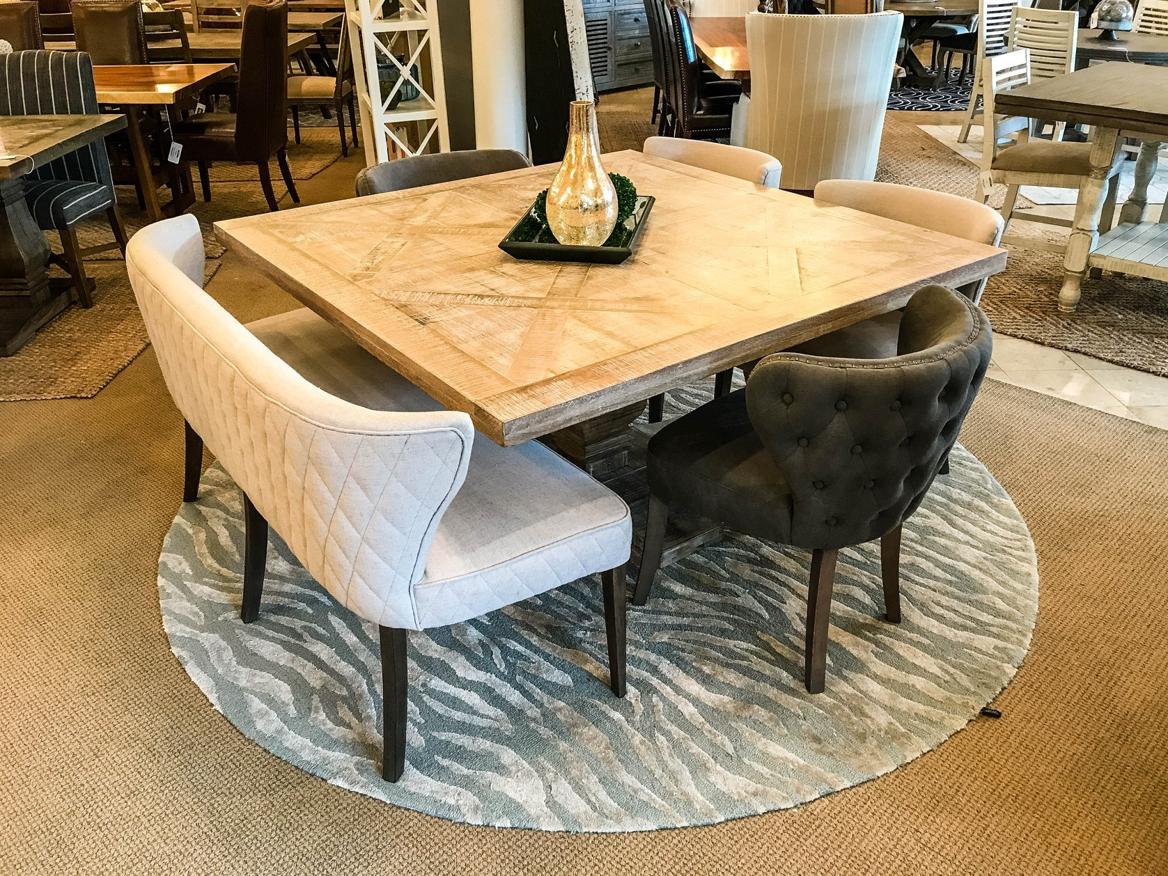 Brisbane 59 Square Dining Table New White Wash Square Wood