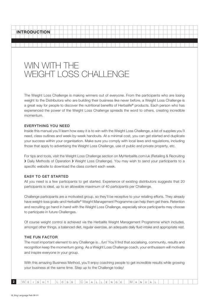 how to make a weight loss challenge