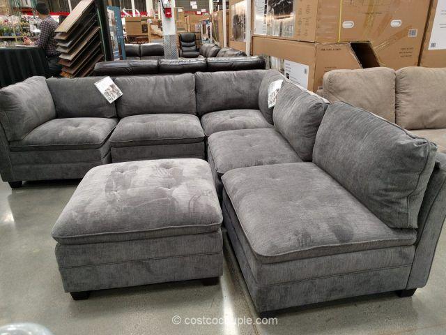 6 Piece Modular Fabric Sectional Costco Modular Sectional Sofa Sofas For Small Spaces Modular Sectional