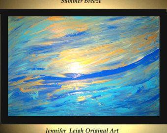 Reservados Original grande la pintura abstracta moderna lienzo