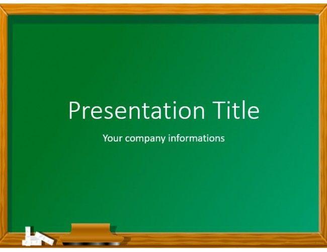 download free green chalkboard powerpoint template