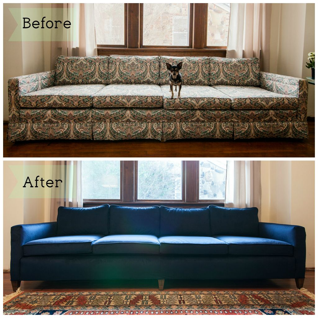 Upholstery Couch Diy Couch Before After Mid Mod Mad Men Sofa Reupholstery