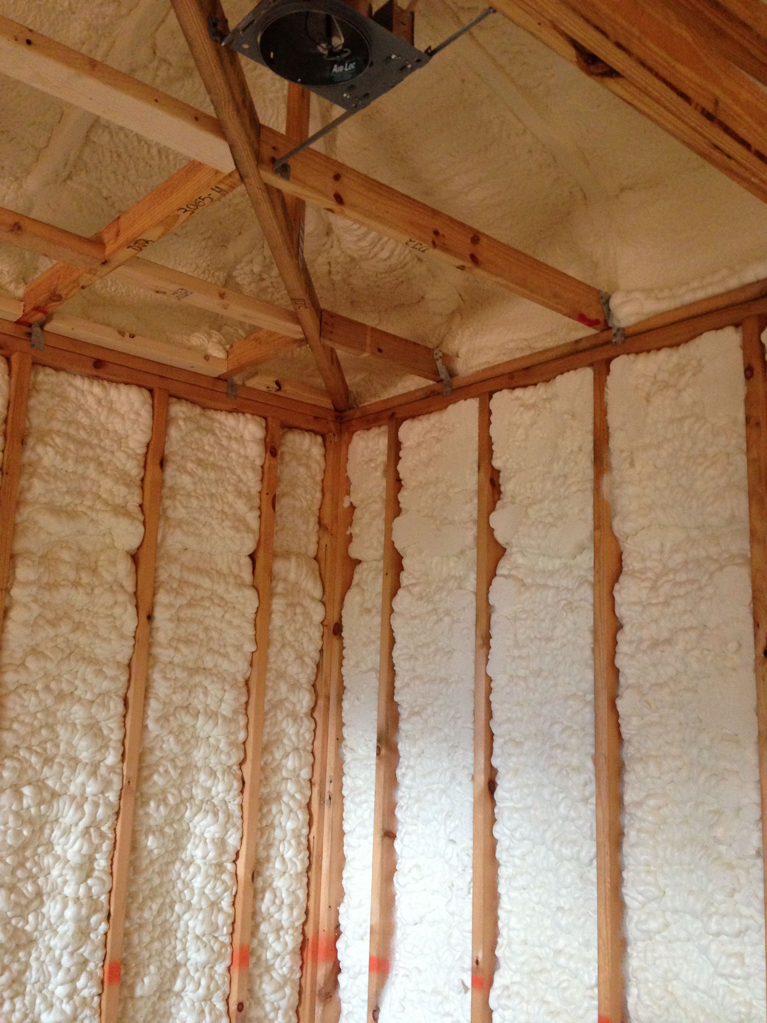 Open Cell Foam On A New Construction In Marietta Georgia Www Southeasterninsulation Com Spray Foam Insulation Insulation Low Cost Housing